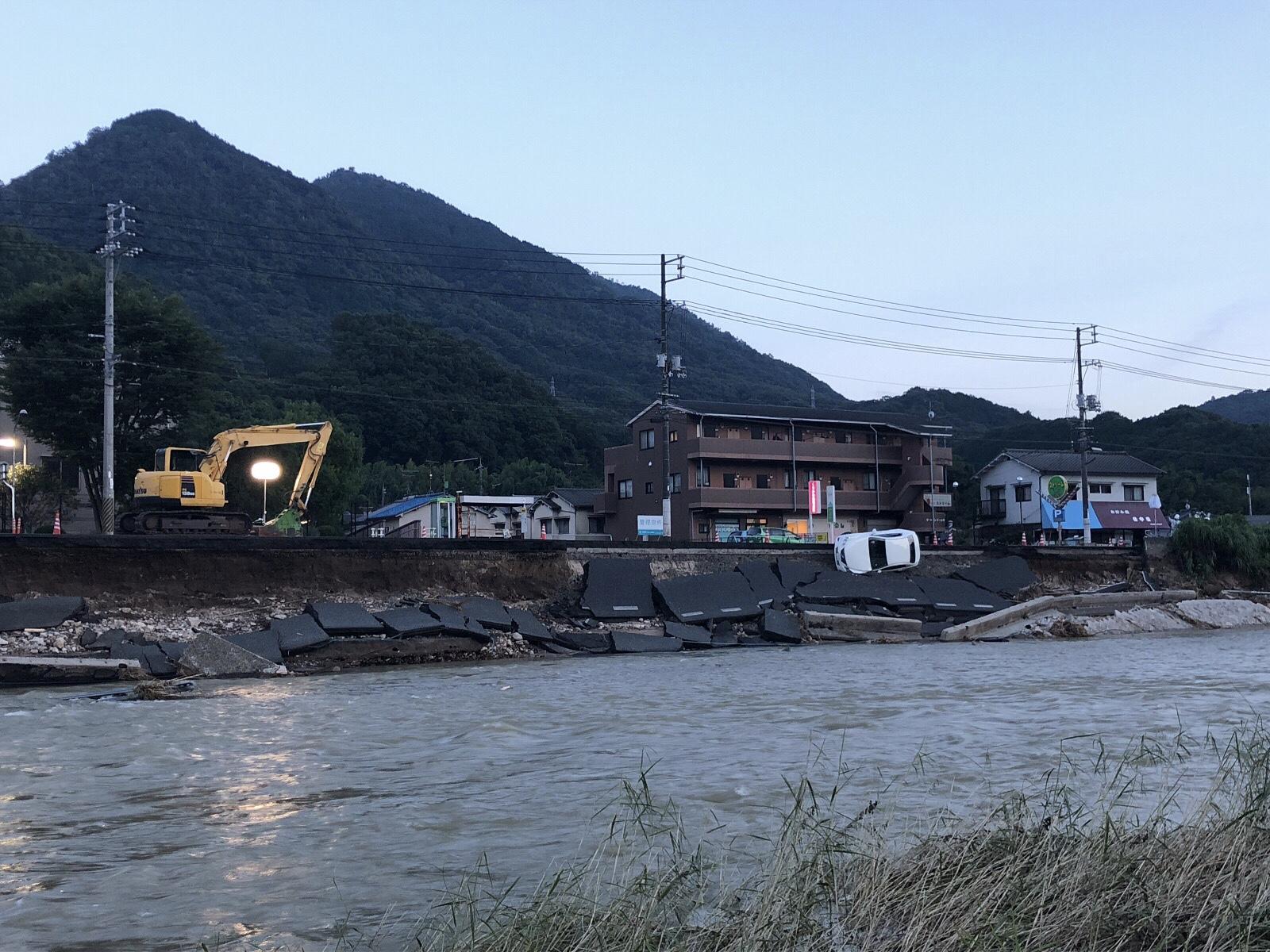 2018.7.10 広島市安芸区中野地区被災状況   紙楽社の主の日常